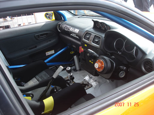 team orange suby interior 2