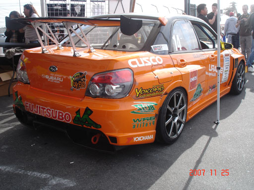team orange suby rear